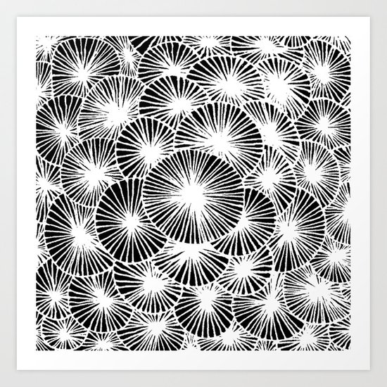 White Pinwheels Art Print