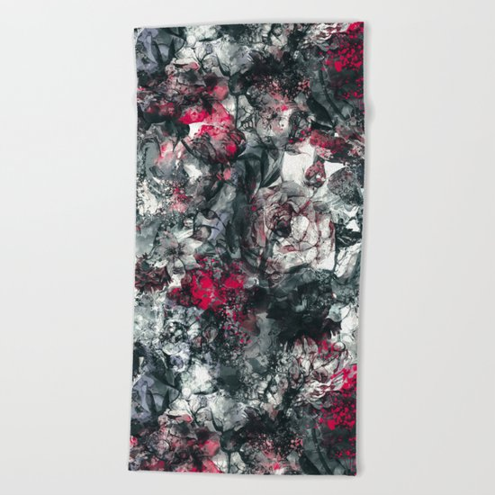 ABSTRACT FLORAL RPE Beach Towel