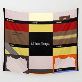 All Good Things - square Minimalist Star Trek TNG The Next Generation 1701 D  startrek  Trektangles Wall Tapestry