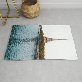 GREEN - TREES - NEAR - BODY - OF - WATER - PHOTOGRAPHY Rug