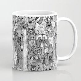 canadian animals black white Coffee Mug