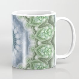 Slate Blue and Green Mandala Coffee Mug