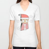 merry christmas V-neck T-shirts featuring Merry christmas by AmDuf