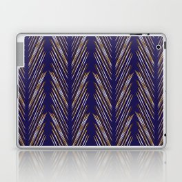 Navy Blue Wheat Grass Laptop & iPad Skin
