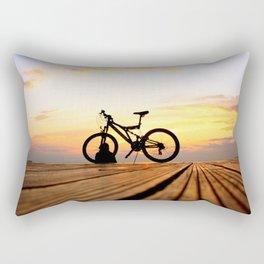 Biker's Sunset  Rectangular Pillow