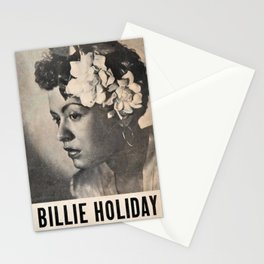 1946 Billie Holiday New York City Town Hall Concert Concert Poster Stationery Cards