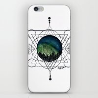 northern lights iPhone & iPod Skins featuring Northern Lights by HaleySayersArt