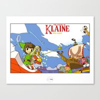 klaine Canvas Prints featuring The Legend of Klaine by Inspired Engine