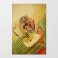 toilet Canvas Prints featuring TOILET by XA-BCN