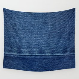 Blue Jean Texture V4 Wall Tapestry