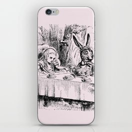 Blush pink - mad hatter's tea party iPhone Skin