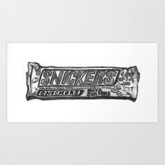 Snickers Art Print
