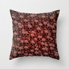 Skull wall Throw Pillow