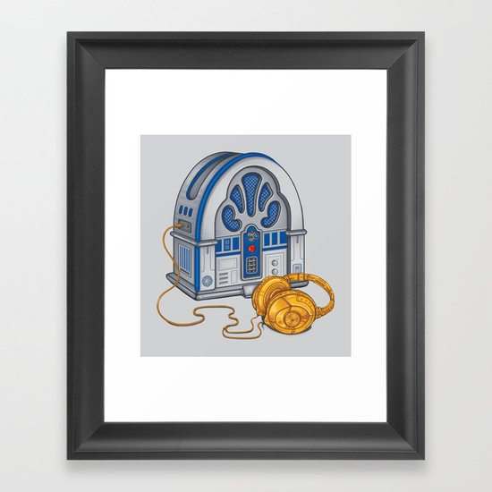 Beats by Droid - Recycled Future Framed Art Print