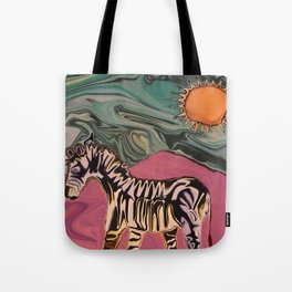Zebra on Mars Tote Bag