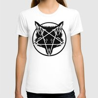 pentagram T-shirts featuring Pentagram Wolf Inverted by Mohrne