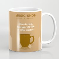 coasters Mugs featuring Coffee Coasters — Music Snob Tip #184 by Elizabeth Owens