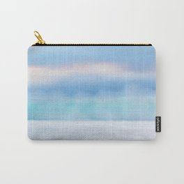 Misty Abstract Wave, Carmel Carry-All Pouch
