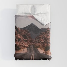Road Red Moon Duvet Cover
