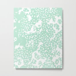 Dot pattern mint abstract minimal painting dorm college office gifts decor Metal Print