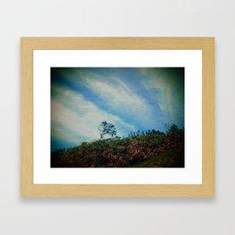 Tree,Cloud,Wind. Framed Art Print