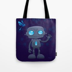 Waving Robot Tote Bag