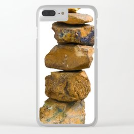 Stacked Yoga Mat Clear iPhone Case