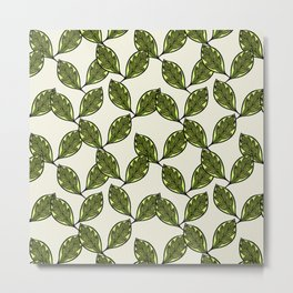 African leaves pattern Metal Print