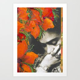 Tribute to Frida Kahlo #39 Art Print