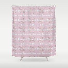 Broken Bones Pink Shower Curtain