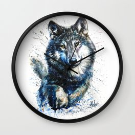 Gray Wolf - Forest King Wall Clock