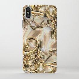 GOLD SWIRLS iPhone Case