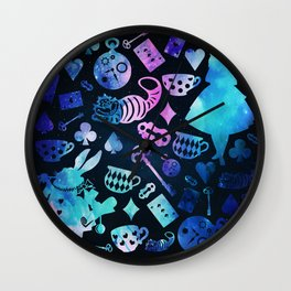 Alice in Wonderland - Galaxy Wall Clock