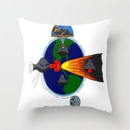Mayan Astronauts Throw Pillow