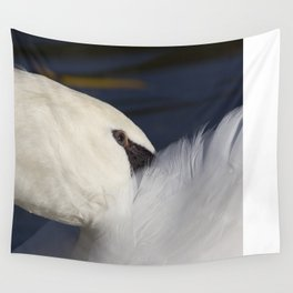 Swan Shyness Wall Tapestry