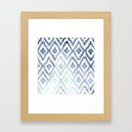 Indigo Ikat Print 3 Framed Art Print