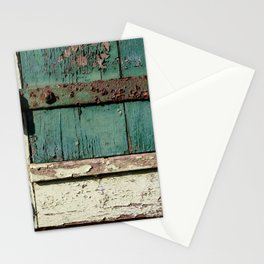 Old Wood an Rusty Grunge Barn Door Stationery Cards