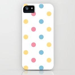 Fresh polka dot seamless background or pattern iPhone Case