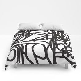 Stained Glass Patter (Black outlines) Comforters