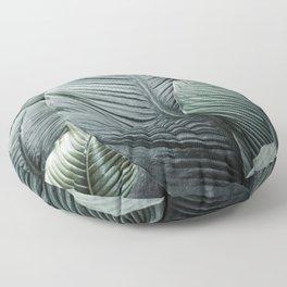 Banana Leaves Tropical Art Floor Pillow