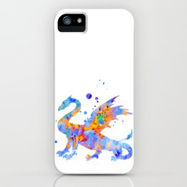 Dragon Watercolor Painting iPhone Case