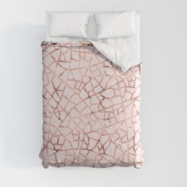 Crackle Rose Gold Foil Comforters