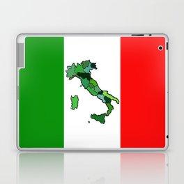 Map of Italy and Italian Flag Laptop & iPad Skin