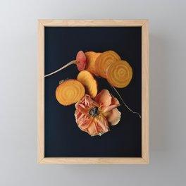 Moody Orange Beets and Rose Framed Mini Art Print