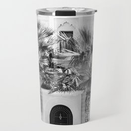 """Travel photography print """"Magical Marrakech"""" photo art made in Morocco. Black and white. Travel Mug"""