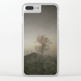 English Winter Days Walk in the Mist of Early Morning Clear iPhone Case