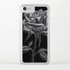 Silver Rose Clear iPhone Case