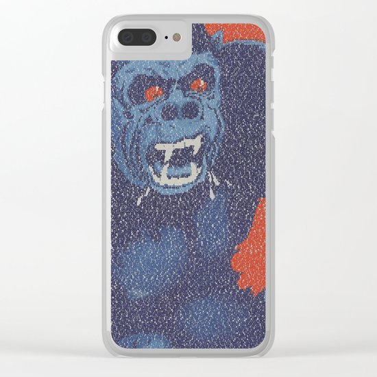 King Kong Script Print Clear iPhone Case