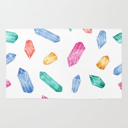 Crystals pattern - White2 Rug