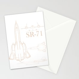 Military Jet SR-71 Blackbird Pilot Airman product Stationery Cards